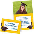 Custom Yellow Graduation Invitations & Thank You Notes