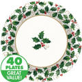 Seasonal Holly Value Plates & Tableware