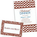 Chocolate Brown Custom Invitations & Banners