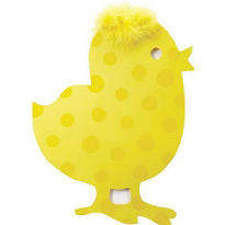 Yellow Chick Cutout 15in