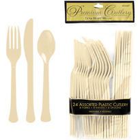 Vanilla Premium Plastic Cutlery Set 24ct