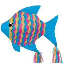 Neon Fish Pinata 21in
