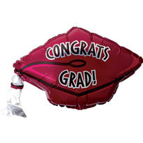 Foil Berry Graduation Cap Balloon 18in