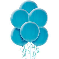 Light Blue Premium Latex Balloons 36in 6ct