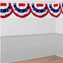 American Flag Bunting Border Roll 40ft