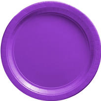 Purple Paper Dinner Plates 20ct