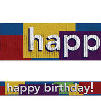 Multicolor Fringe Happy Birthday Banner