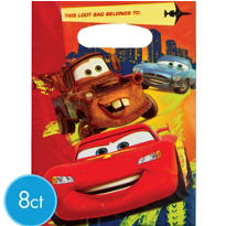 Bright Cars Favor Bags 8ct