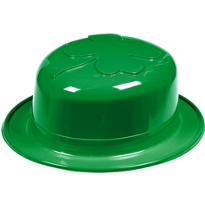 Derby Hat with Molded Shamrock