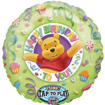 Happy Birthday Winnie the Pooh Balloon - Singing