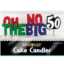 Oh No the Big 50 Birthday Candles