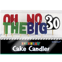 Oh No 30th Birthday Candle Set 11pc