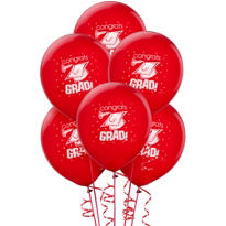 Red Latex Graduation Balloons 12in 15ct
