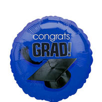 Foil Royal Blue Congrats Grad Graduation Balloon