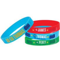 Thomas the Tank Engine Rubber Wristbands 4ct