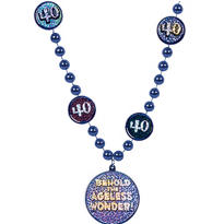 40th Birthday Bead Necklace