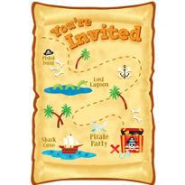 Pirate's Treasure Invitations 8ct