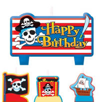 Pirate's Treasure Birthday Candles 4ct