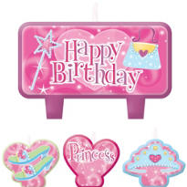 Princess Birthday Candles 4ct