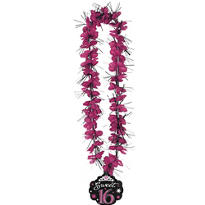 Sparkle Sweet 16 Lei 36in