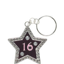 Sweet 16 Sparkle Key Ring