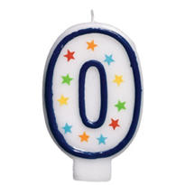 Number 0 Birthday Candle 3in
