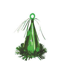 Festive Green Party Cone Balloon Weight