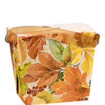 Elegant Leaves Pint Pail 3 1/4in x 3in