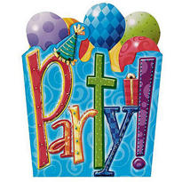 Party Time Jumbo Invitations 8ct