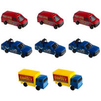 Plastic Trucks 8ct