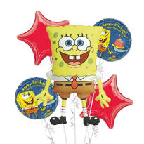 SpongeBob Balloon Bouquet Deluxe 5pc