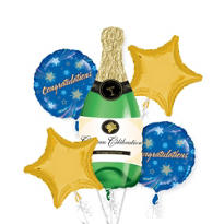 Champagne Balloon Bouquet 5pc
