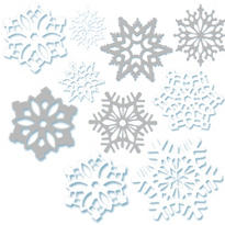Snowflake Cutouts Value Pack 30ct