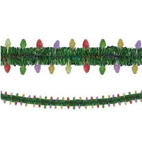 Holiday Light Tinsel Garland 12ft
