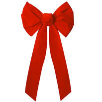 Red Holiday Wreath Bow 27in