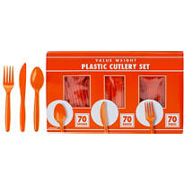 Orange Cutlery Set 210pc