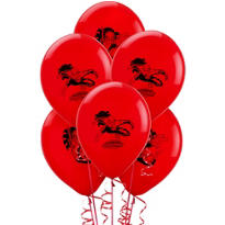 Latex Spider-Man Balloons 12in 6ct