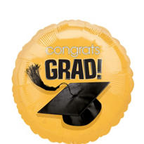Foil Gold Congrats Grad Graduation Balloon