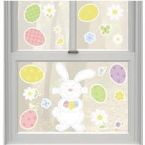 Vinyl Easter Bunny Window Decorations 20ct