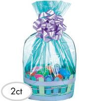 Aqua Cello Basket Bags 2ct