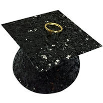 Black Glitter Graduation Balloon Weight 6oz