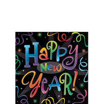 Countdown Celebration New Years Beverage Napkins 16ct