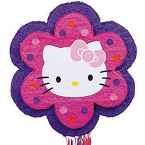 Pull String Hello Kitty Pinata 18in