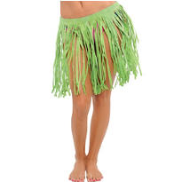 Adult Green Mini Hula Skirt