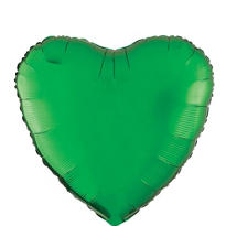 Foil Green Heart Balloon 18in
