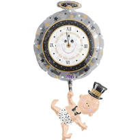 Foil Baby New Year Balloon 39in