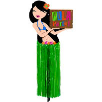 Hula Girl Yard Sign 2ft
