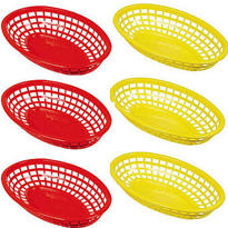 Red & Yellow Plastic Baskets