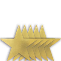Gold Star Cutouts 9in 5ct