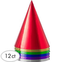 Metallic Party Hats 12ct